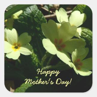 Pegatina vulgaris del día de madre de la primavera