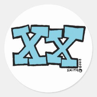 Pegatina XX