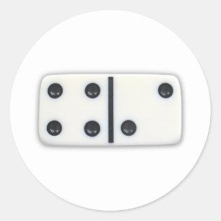 Pegatinas 001 del dominó pegatinas redondas
