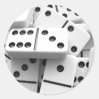 Pegatinas 006 de los dominós etiquetas redondas