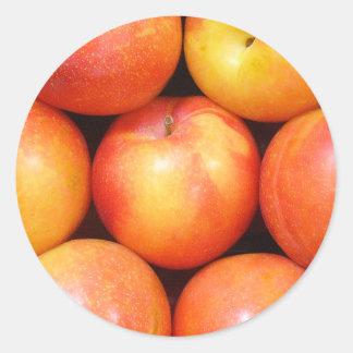 Pegatinas 01 de la fruta pegatina redonda