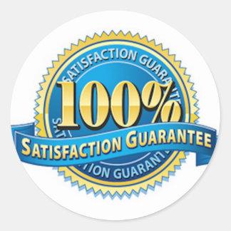 Pegatinas 100% de la satisfacción garantizada pegatina redonda