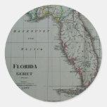 Pegatinas 1823 del mapa de la Florida Pegatinas Redondas