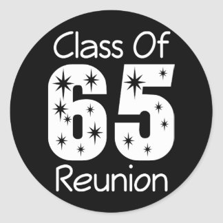 Pegatinas 1965 de la reunión de antiguos alumnos pegatina redonda