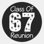 Pegatinas 1967 de la reunión de antiguos alumnos
