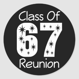 Pegatinas 1967 de la reunión de antiguos alumnos etiquetas redondas