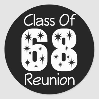 Pegatinas 1968 de la reunión de antiguos alumnos pegatina redonda