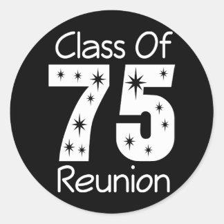 Pegatinas 1975 de la reunión de antiguos alumnos pegatina redonda