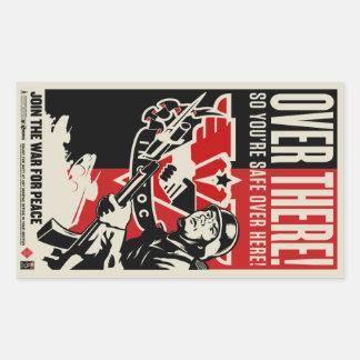 Pegatinas 1984 de la propaganda rectangular pegatinas