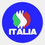 Pegatinas 2010 del fútbol del WC de Italia Italia Pegatinas Redondas