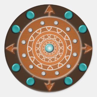 Pegatinas 20 de las direcciones por la hoja pegatina redonda