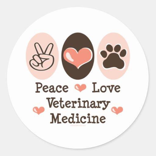 Pegatinas 20 PK de la veterinaría del amor de la Pegatina Redonda