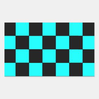 Pegatinas 3 del tablero de ajedrez del tablero de pegatina rectangular