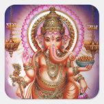 Pegatinas #7 de Ganesha Pegatina Cuadrada