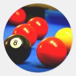pegatinas 8-Ball Pegatinas Redondas