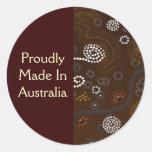 Pegatinas aborígenes australianos del arte del etiqueta redonda