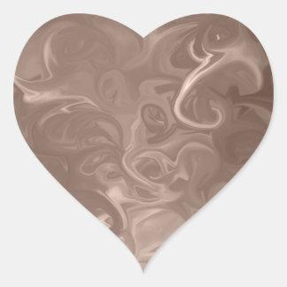 Pegatinas abstractos del corazón pegatina en forma de corazón