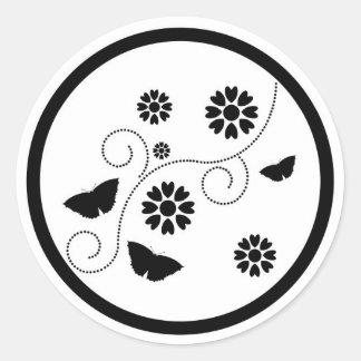 Pegatinas abstractos del diseño floral de las mari