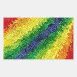 Pegatinas abstractos del remolino del arco iris rectangular altavoz