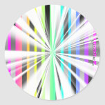 Pegatinas abstractos del starburst pegatina redonda