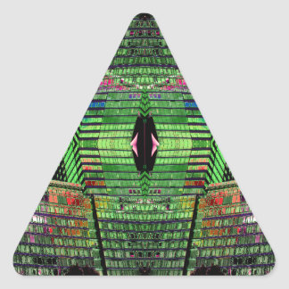 Pegatinas abstractos futuristas inusuales 1 del pegatina triangular