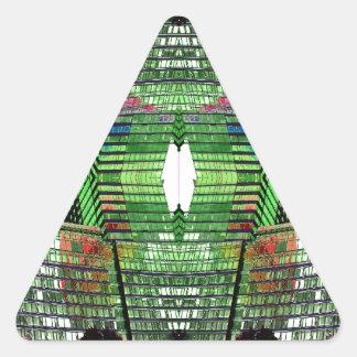 Pegatinas abstractos futuristas inusuales 2 del pegatina triangular