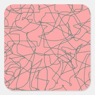 pegatinas abstractos modernos de los mediados de pegatina cuadrada