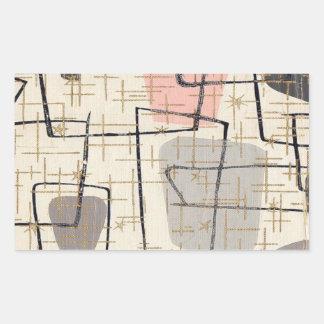Pegatinas abstractos modernos de los mediados de pegatina rectangular