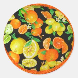 Pegatinas acogedores del limón de la tortilla pegatina redonda