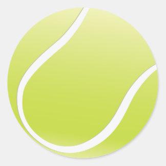 Pegatinas adaptables de la pelota de tenis etiqueta redonda