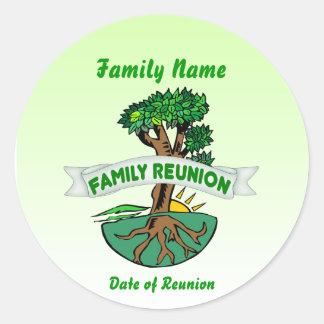 Pegatinas adaptables de la reunión de familia pegatina redonda