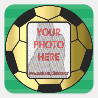 Pegatinas adaptables del balón de fútbol del oro d