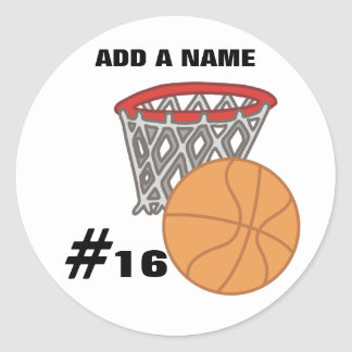 Pegatinas adaptables del baloncesto pegatina redonda