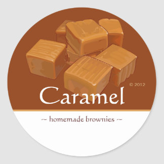 Pegatinas adaptables del caramelo del caramelo pegatina redonda