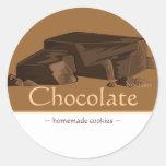 Pegatinas adaptables del chocolate pegatina redonda