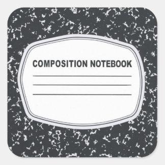 Pegatinas adaptables del cuaderno de la pegatina cuadrada