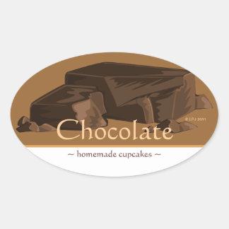 Pegatinas adaptables del óvalo del chocolate pegatina ovalada
