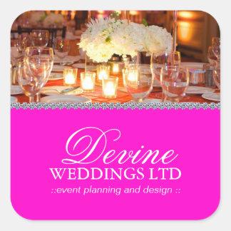 Pegatinas adaptables del planificador del boda pegatina cuadrada