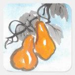 Pegatinas afortunados de las calabazas de Wu Lou Calcomanías Cuadradas Personalizadas