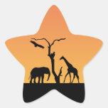 Pegatinas africanos del pegatina de la puesta del
