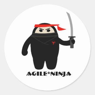 Pegatinas ágiles de Ninja Pegatina Redonda