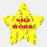 Pegatinas agradables de la recompensa del trabajo colcomanias forma de estrellaes