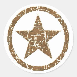 Pegatinas agrietados occidentales de la insignia pegatina redonda