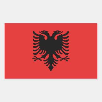 Pegatinas albaneses de la bandera rectangular altavoz