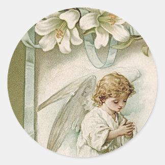 Pegatinas: Alegrías de Pascua Pegatina Redonda