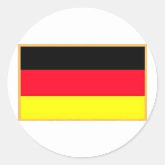 Pegatinas alemanes de la bandera pegatina redonda