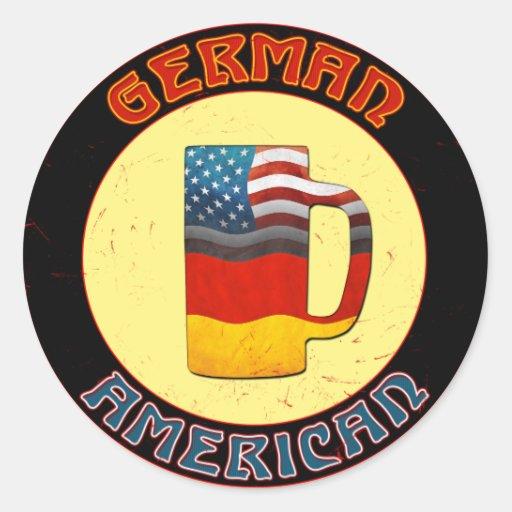 Pegatinas alemanes de Stein del americano Pegatina Redonda