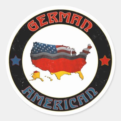 Pegatinas alemanes del mapa de las banderas etiquetas redondas