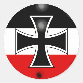 Pegatinas alemanes imperiales de la bandera pegatina redonda
