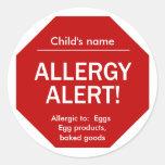 Pegatinas alertas de la alergia